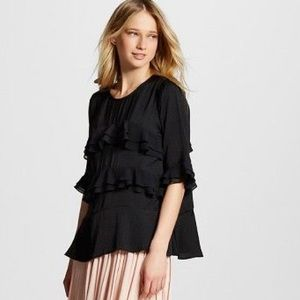 Who What Wear Ruffle Blouse